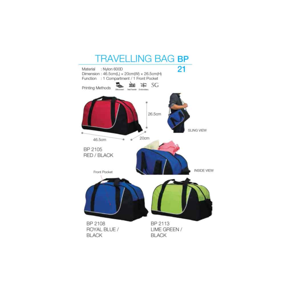 yellowinch.com.sg NYLON-SINGLE-COMPARTMENT-TRAVEL-BAG-WITH-FRONT-POCKET-BP21-1024x1024 Bag