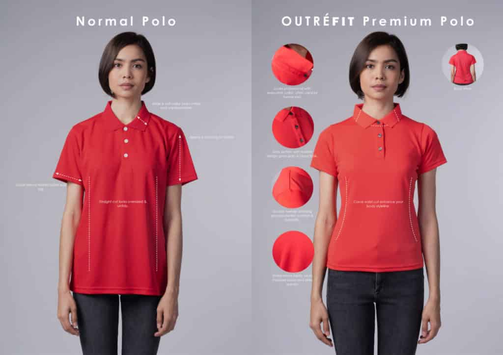 yellowinch.com.sg Normal-Ladies-Polo-vs-Outrefit-Premium-Ladies-Polo-1024x724 T-Shirt Printing Singapore - Custom T-Shirt & Corporate Polo Manufacturer