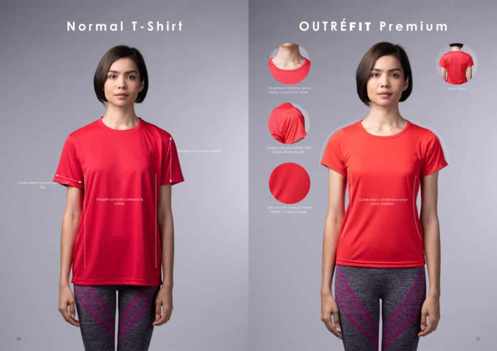 yellowinch.com.sg Normal-Ladies-T-Shirt-vs-Outrefit-Premium-Ladies-T-Shirt-1024x724 T-Shirt Printing Singapore - Custom T-Shirt & Corporate Polo Manufacturer